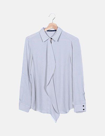 Blusa fluida gris combinada