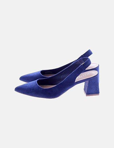Zapato tacón azul marino
