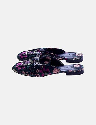 Zapato plano multicolor floral