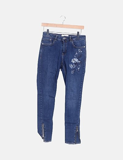 Jeans detalle floral