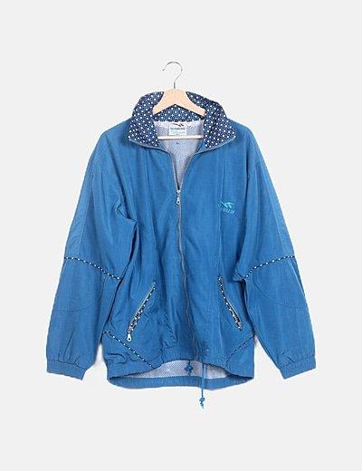 Conjunto chaqueta y pantalón deportivo azul