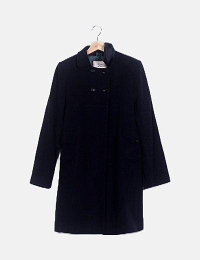 Abrigo azul noche paño
