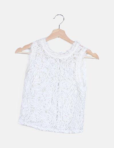 Camiseta blanca crochet