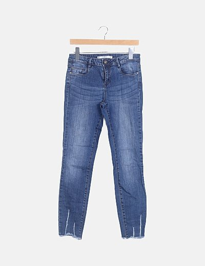 Jeans denim pitillo ripped