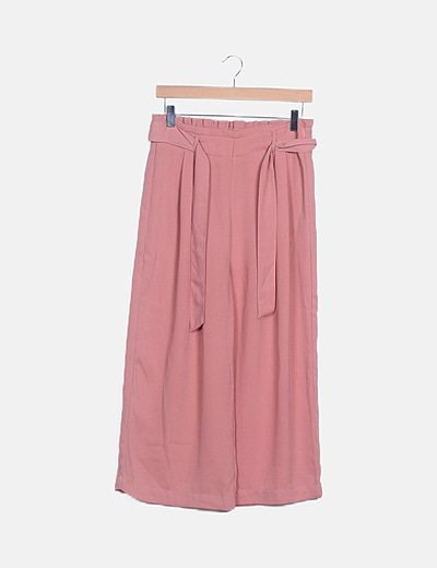 Pantalón rosa baggy