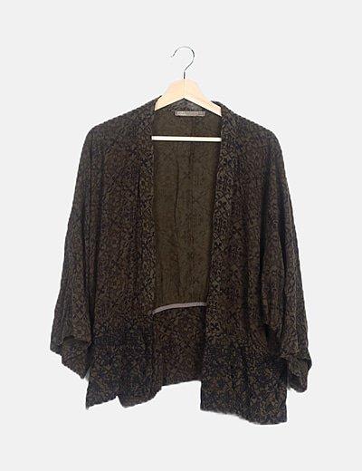 Kimono bicolor detalle print