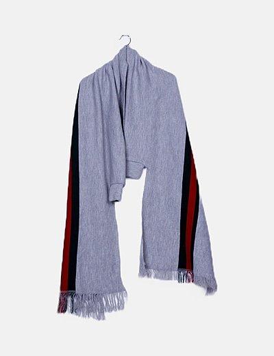 Kimono gris con flecos