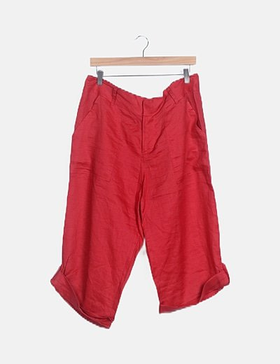 Pantalón rojo wide leg