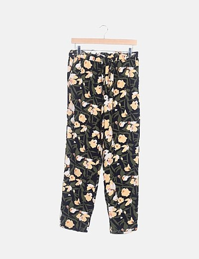 Pantalón multicolor estampado