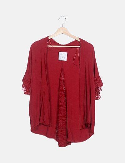 Kimono teja detalle encaje