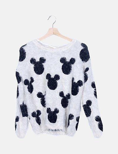 Jersey punto rizado 'Mickey Mouse'