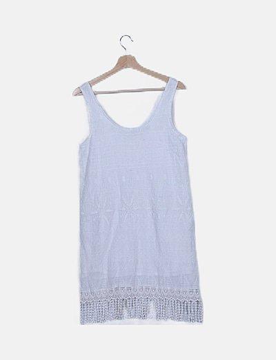 Vestido texturizado blanco