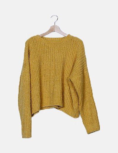 Jersey mostaza de lana
