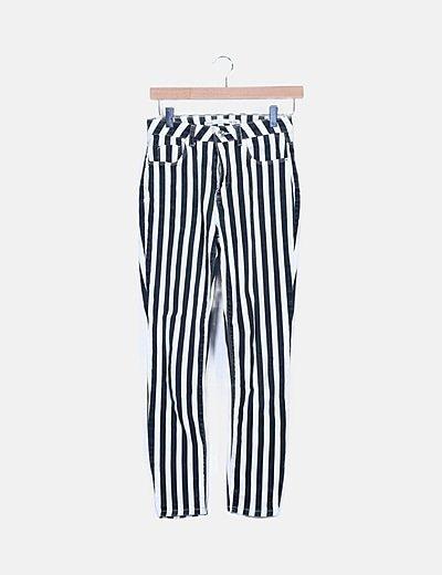 Pantalón rayas bicolor