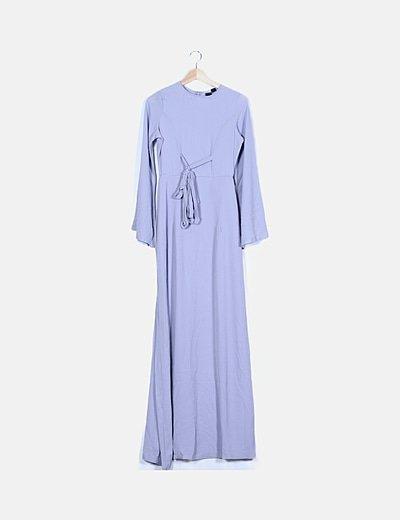Vestido fluido lila lace up