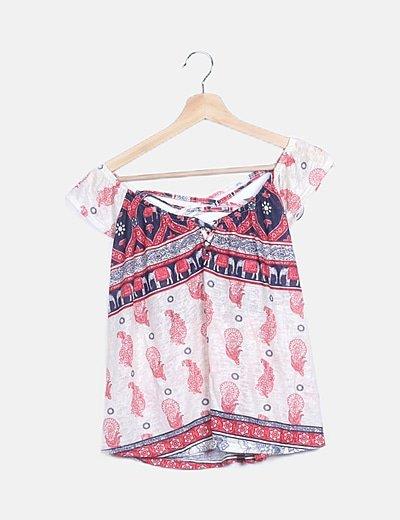 Camiseta multicolor detalle espalda