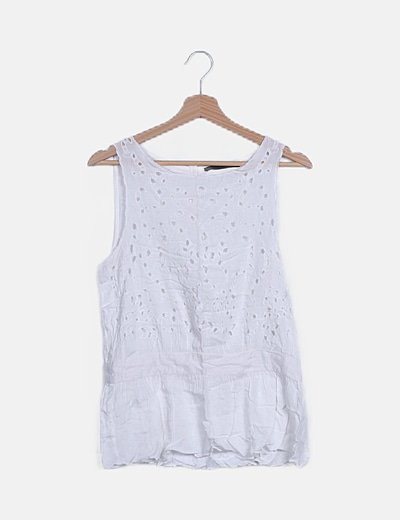 Camiseta blanca detalle peplum
