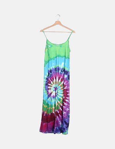 Vestido multicolor tye dye
