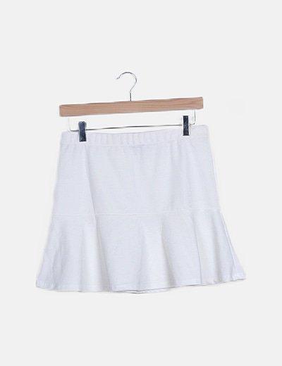 Mini falda blanca