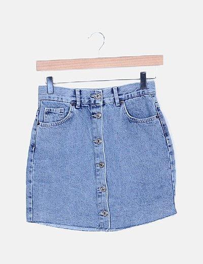 Minifalda denim desflecada