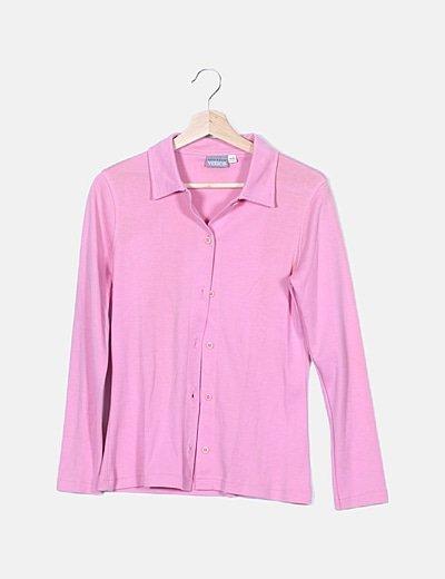 Polo rosa manga larga