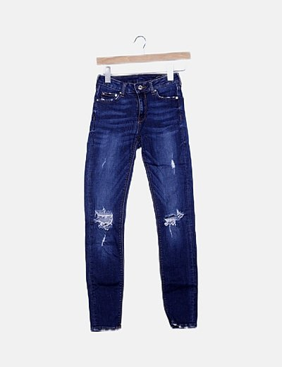 Jeggings azul ripped