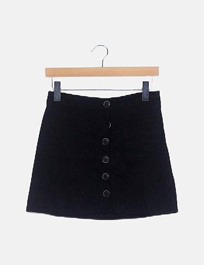 Falda mini negra antelina
