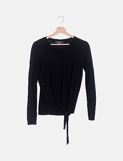 Jersey negro fino nudo