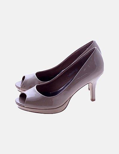 Zapato nude peep toe