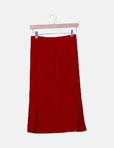 Falda roja detalle tablas