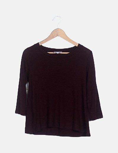Jersey tricot berenjena