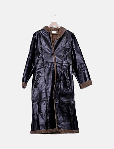 Abrigo doble faz marrón