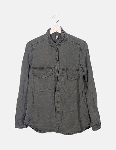 Camisa fluida verde
