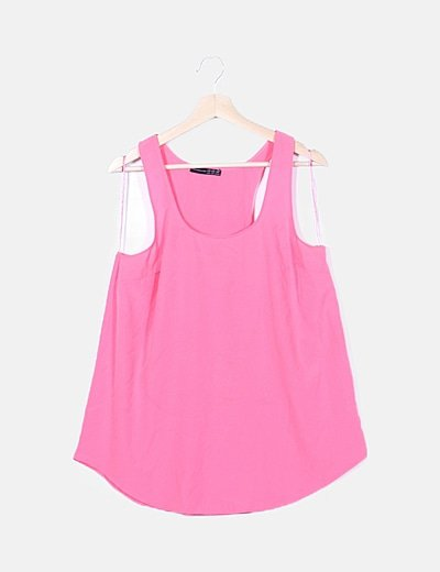 Blusa tirantes rosa