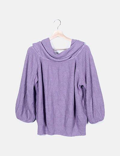 Jersey punto violeta