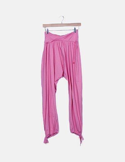 Legging rosa detalle bajo