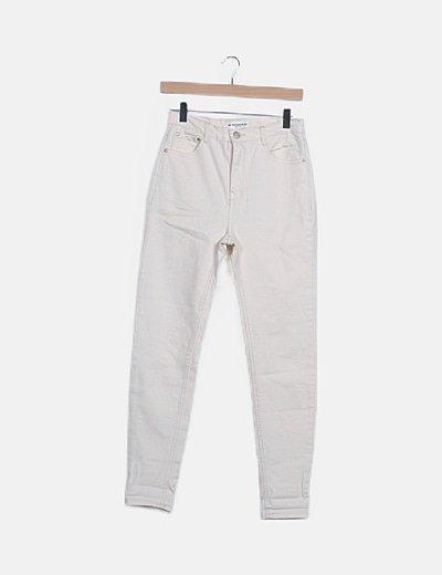 Jeans crema skinny