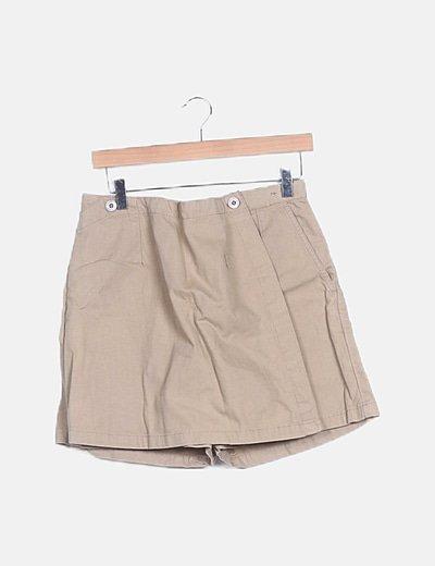 Mini falda beige