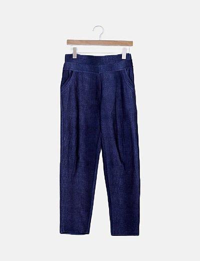 Pantalón fluido azul