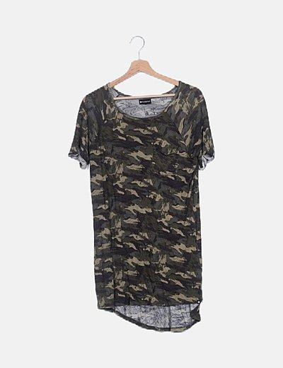 Camiseta ovesize camuflaje