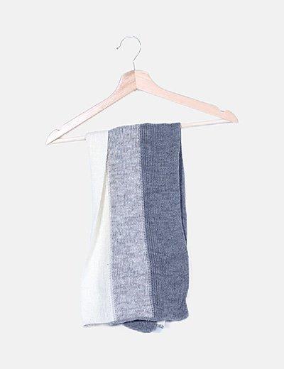 Bufanda lana combinada