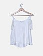 Camiseta blanca detalle crochet New Look