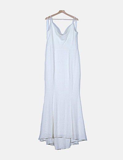 Maxi vestido blanco tirantes