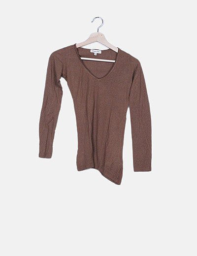 Camiseta básica marrón