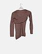Camiseta básica marrón Massimo Dutti