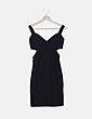 Vestido negro texturizado Vera & Lucy