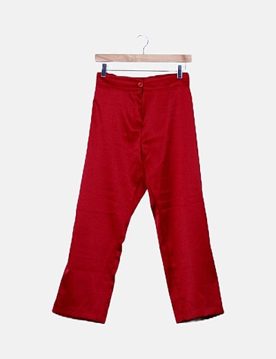 Pantalón irisado rojo