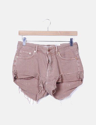 Shorts denim rosa