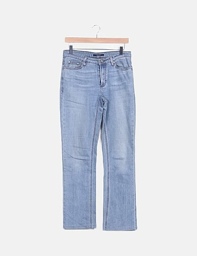Jeans azul claro campana