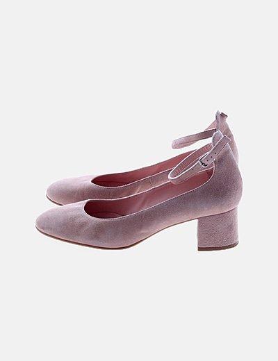 Zapatos nude antelina